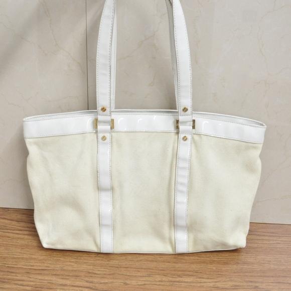 80181b97df4 Tory Burch Bags   Ivory Canvas Tote Shoulder Bag   Poshmark
