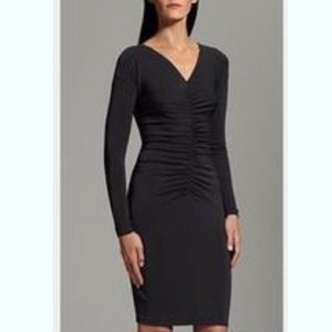 NWT - Narcisco Rodriguez Black Ruched Dress