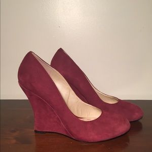 🍷Wine Suede NineWest wedges - prefect4fall