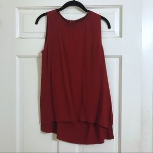 Madewell Red Tank Blouse (S)