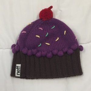 a43cc663b44 Neff Accessories - SALE🎉NEFF purple cupcake beanie with a 🍒 on top