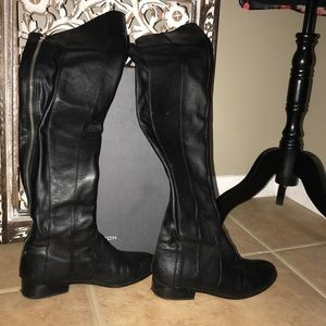 H by Halston Over the Knee Leather Boots