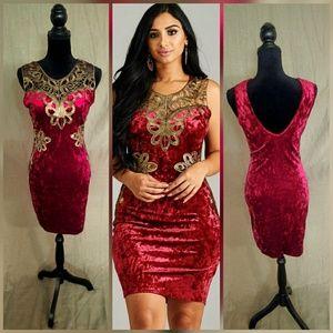 Dresses & Skirts - 🌟🌟New Arrival Velvet Body-con Mini Dress🌟🌟