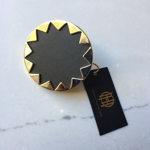 House of Harlow 1960 Genuine Leather Ring