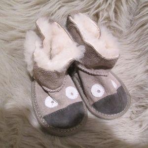 Cute Gray Emu Koala Walker Shoes Boots Warm
