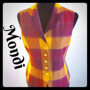 Retro multi color vest