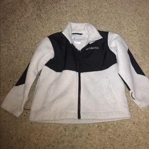 Boys Columbia zip up fleece jacket size 4/5