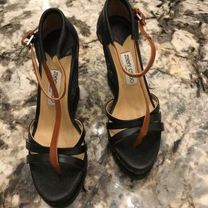 Shoes - Leather wedge sandals