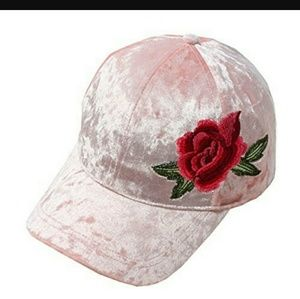 DAVID and YOUNG velvet rose embroidered hat
