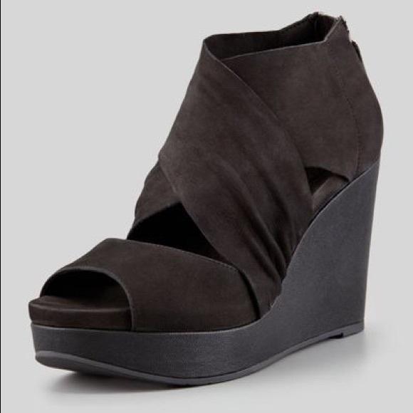 1b2425ec093 Eileen Fisher Shoes - Eileen Fisher Black Open Toe Platform Wedge