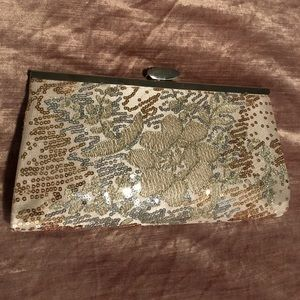 Gold Lulu Townsend Formal Clutch