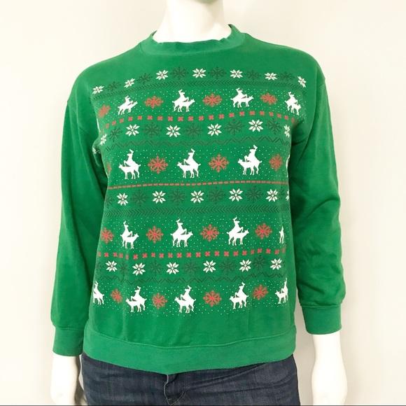 NWOT Naughty Reindeer Christmas Sweatshirt