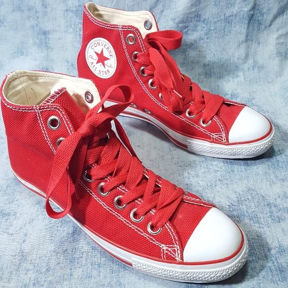 ac935b837e5 Converse Other - Converse RED Heavy Duty Chucks 12 BIG Laces Logo