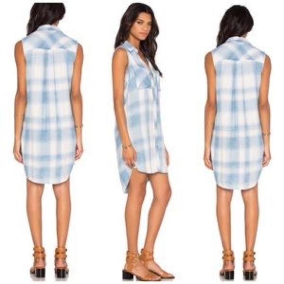 c74f9a6b4db Anthropologie Dresses   Skirts - cloth   stone plaid shirt dress