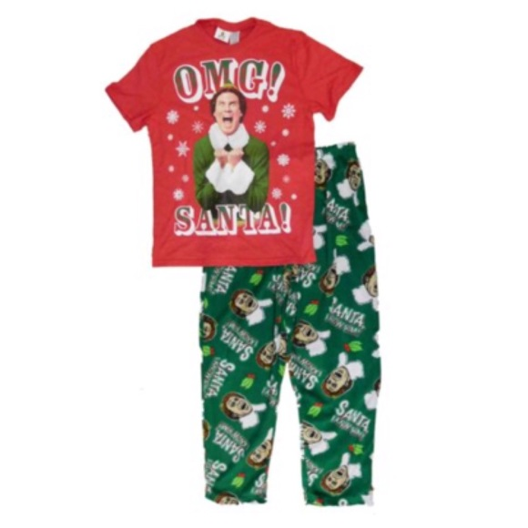 04fb141fd0 NWOT Green Buddy The Elf Christmas Pajama Pants S.  M 59eff00d41b4e00ed102e0e7