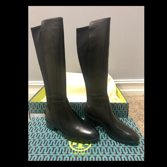 4721bb70049 Tory Burch Caitlin Leather Stretch Boots