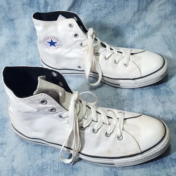a54679042508 Converse Other - Converse White Mono Black Inside Trim 12 Vintage