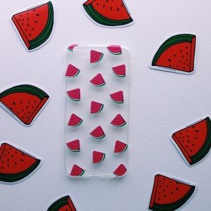 NWT watermelon 🍉 print iPhone 7 silicone case