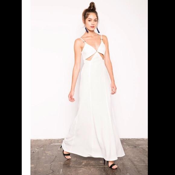 84% off Stone Cold Fox Dresses Nwto Delius White Cutout Gown | Poshmark