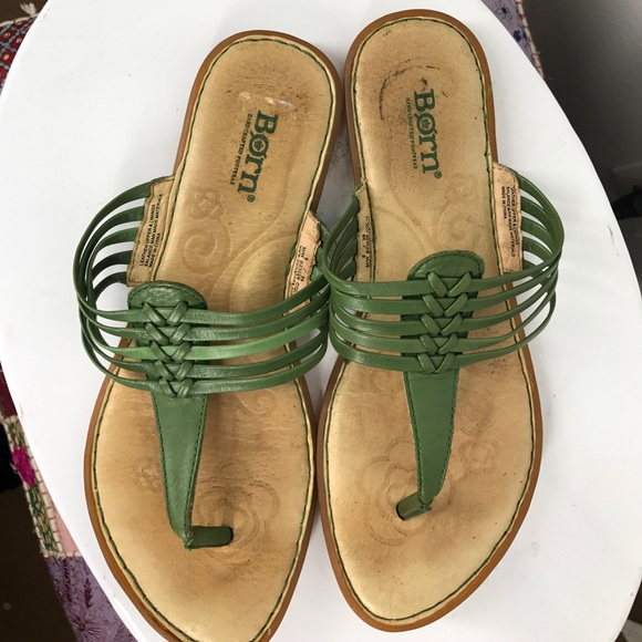 3483c27c0070 Born Shoes - Born green sandals size 8