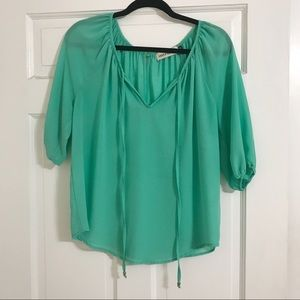 Dark Seafoam Green Blouse