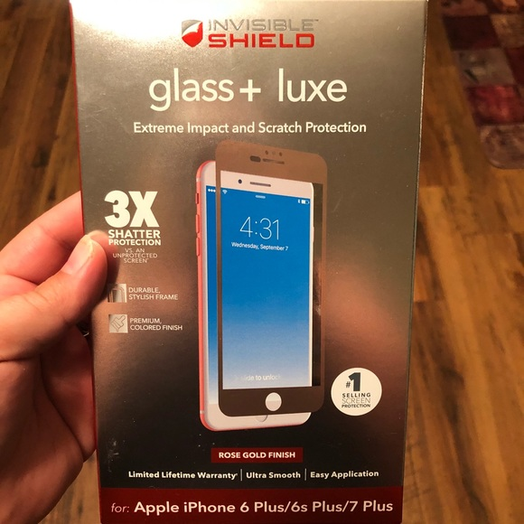 meet 206d5 b3204 Zagg invisibleShield glass+Luxe 6/6S/7/8 Plus NWT