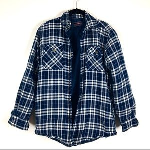 Wrangler quilted plaid flannel