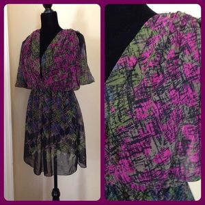 Beautiful Floral Abstract Sheer Tunic