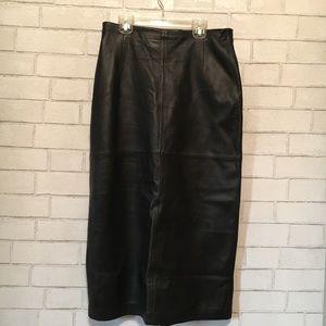 Pendleton black maxi skirt butter soft
