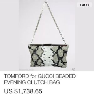 Tom Ford for Gucci Beaded Clutch Purse