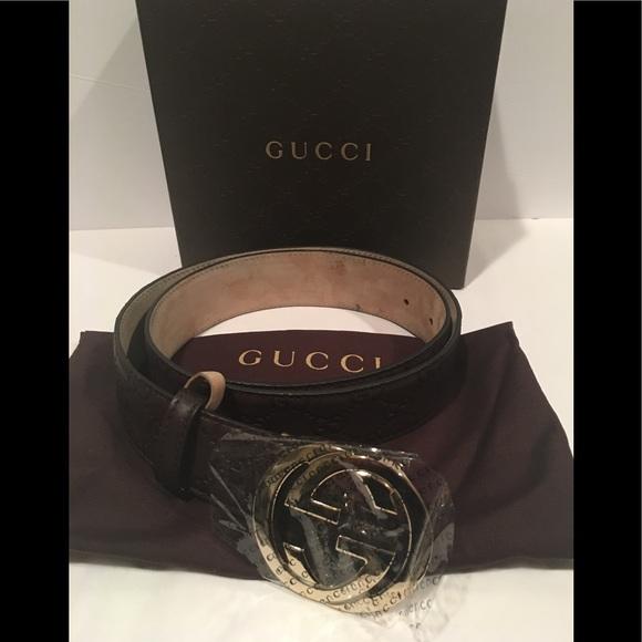 7bece5394da0 Gucci Accessories | Britt Gg Interlocking Womens Belt Sz 36 | Poshmark