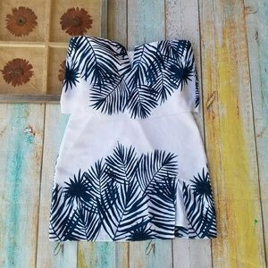 NWT Saylor Tropical Strapless Mini Party Dress M
