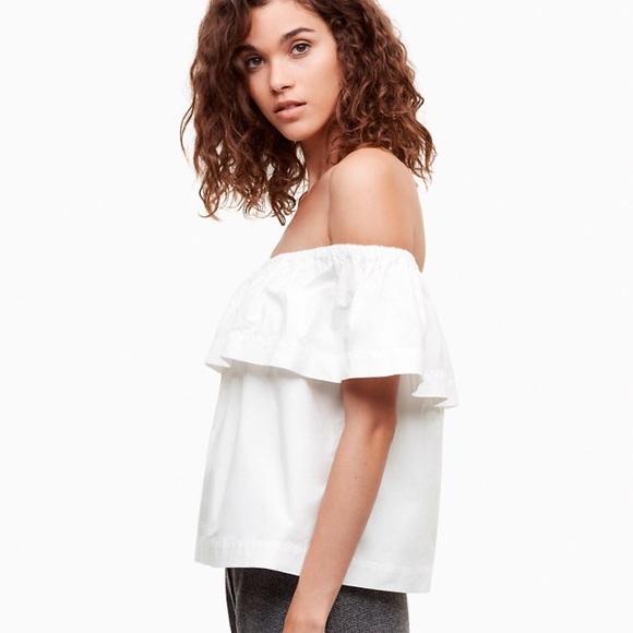 211a4aff96e31d Aritzia WILFRED Hollande off shoulder white blouse.  M_59f00b14f0137dff1503aab5