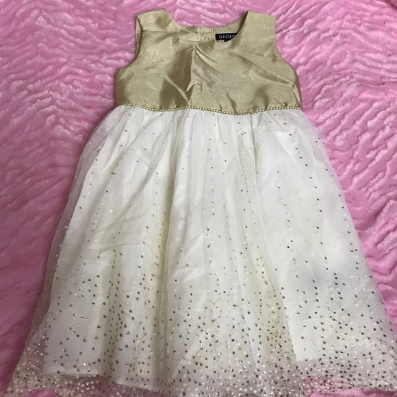 c9f7cf65c George Dresses | Girls Size 5 Gold Off White Dress | Poshmark
