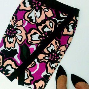 Dresses & Skirts - Fuchsia Floral Envelope Skirt