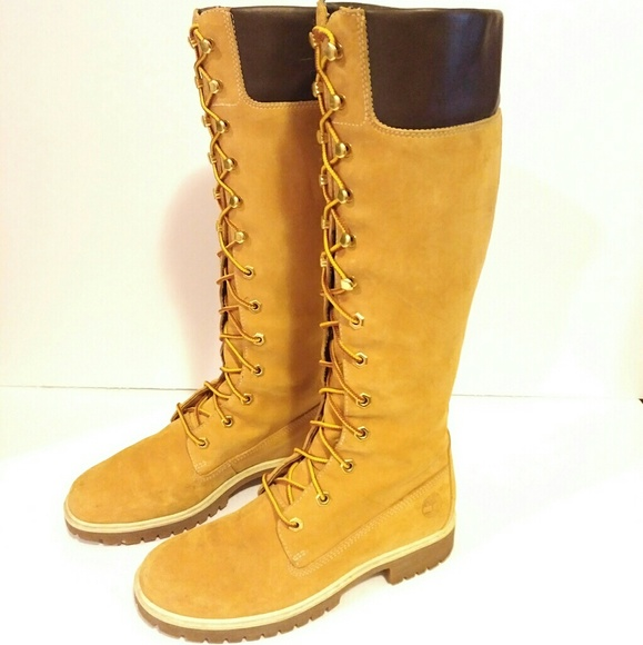 d8a77353a42 Timberland Women's Work Boot Tall wheat color 6