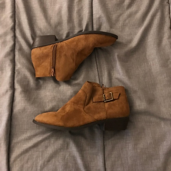 3e22c262cf9 Cato Shoes - Cato Women s Suede Brown Ankle Boots Size 8