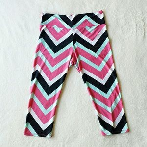 Pants - Chevron Stripped Yoga Workout Leggings