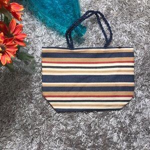 Handbags - 🆕Striped Tote Bag - Blue, Beige, Red