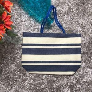 Handbags - 🆕Striped Tote Bag - Red, Blue, Beige