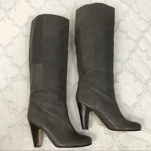 Dolce vita grey knee high boots 9.5 leather