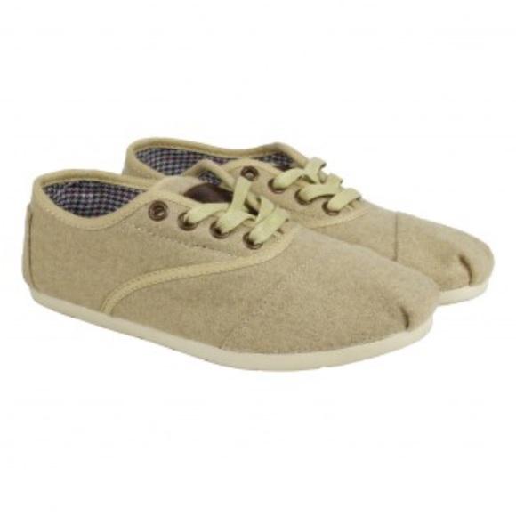 4c40ab0d4d1 Toms Cordones Womens Tan Suede Lace Up Sneakers