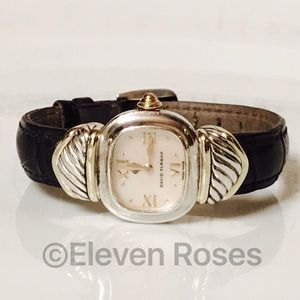 david yurman sterling u0026 14k gold capris watch