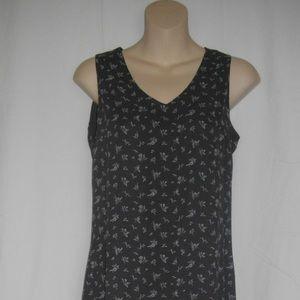 Gray White Old Navy Floral Sleeveless 2 Maxi Dress