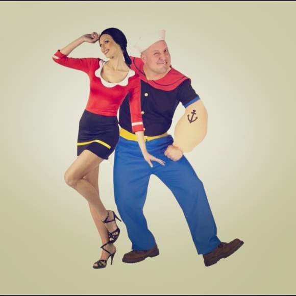 Popeye And olive oyl cute couples costume & Other | Popeye And Olive Oyl Cute Couples Costume | Poshmark