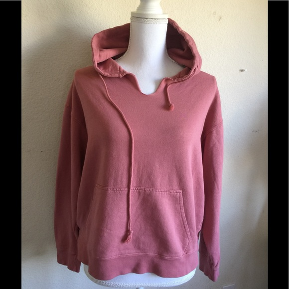 d948aa370d6 Brandy Melville rose pink v neck Christy hoodie