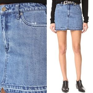 893710c780ac2 Free People Skirts - Free People Step Up Denim Mini Skirt Light Wash