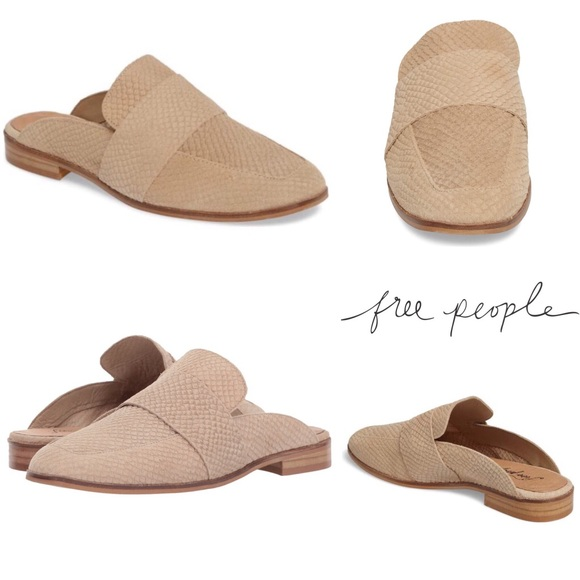 6f7034a52b0 Free People Shoes - Free People At Ease Loafer Beige Leather Flats