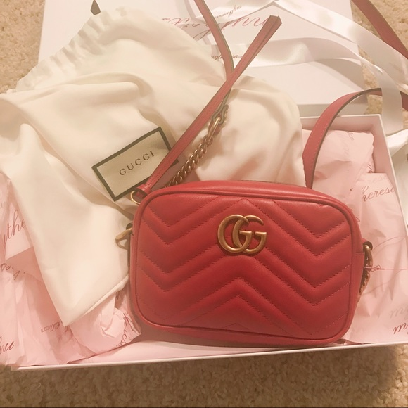aa401052838b Gucci Bags | Marmont Mini Cross Body Bag Woc Red | Poshmark