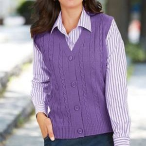 AMERICAN SWEETHEART CABLEKNIT SWEATER VEST